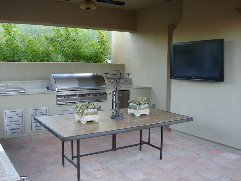 Step one is pouring the floor foundation for the outdoor kitchens; Phoenix or Scottsdale.