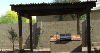 Scottsdale & Phoenix Patio Covers: Peeled Pole Shade Ramadas
