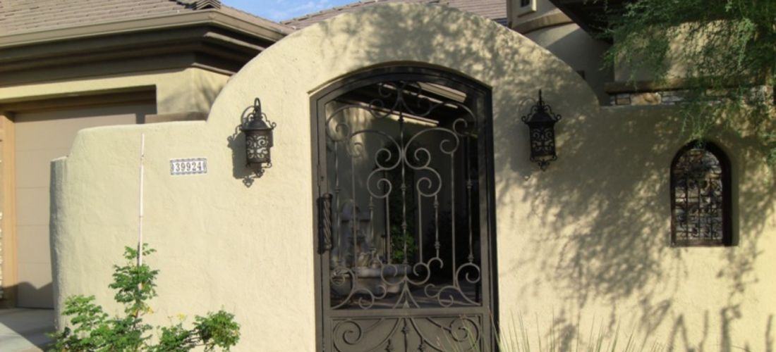 Stucco Privacy Walls Courtyard Landscaping Phoenix