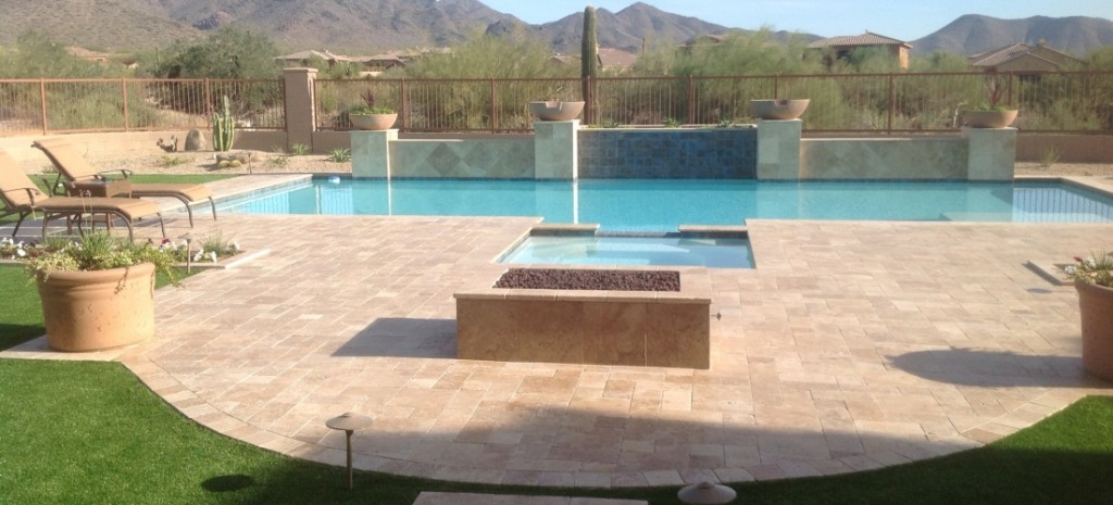 Travertine Pool Pavers Phoenix Scottsdale Pool Decking Desert Crest Llc