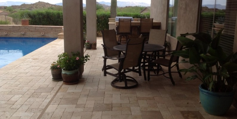 6 Reasons A Travertine Pool Deck Is Best Desert Crest Llc