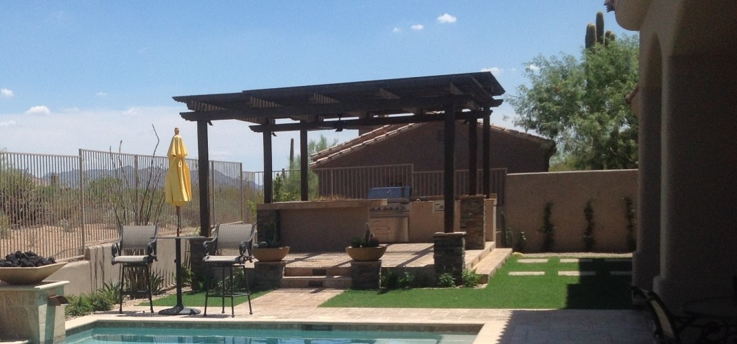 Wood Pergola Shade Roof