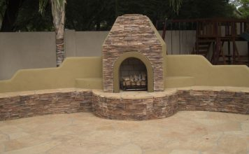 Glendale Outdoor Fireplace