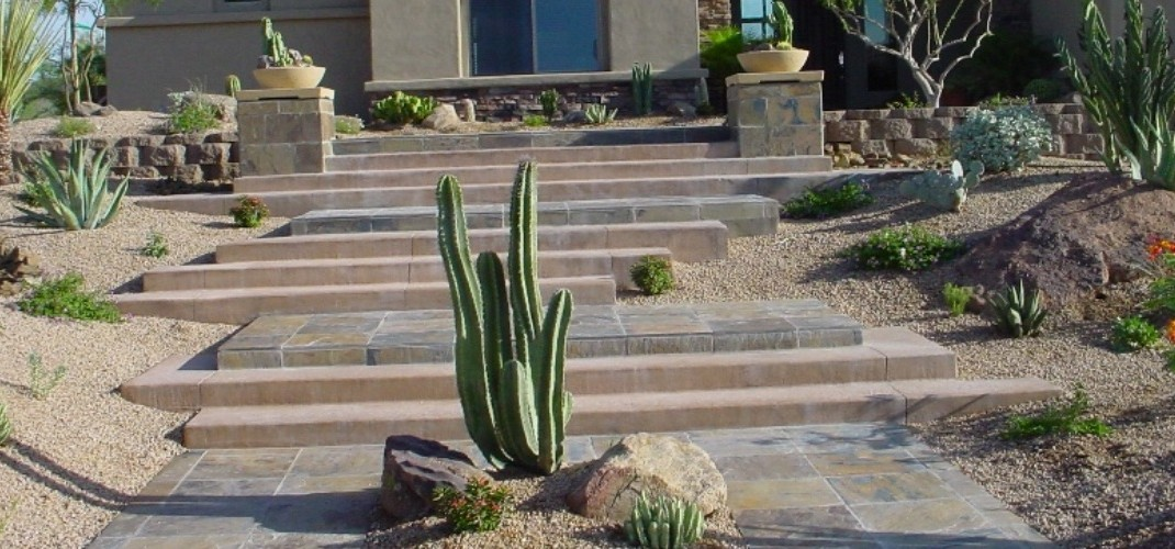 Meandering Stone Steps