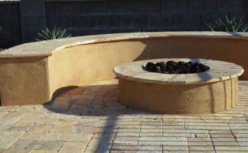 Noce Travertine Fire Pit