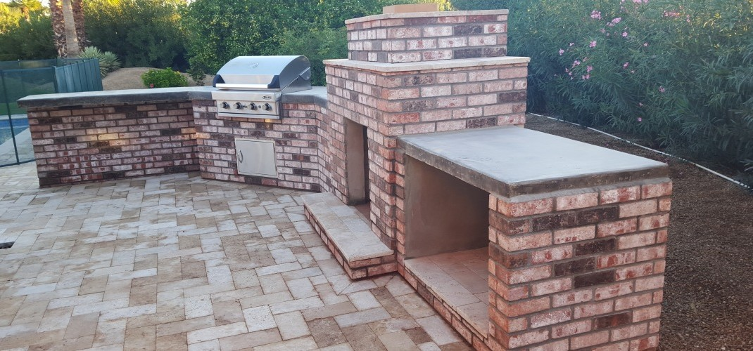 Old Brick BBQ/Fireplace