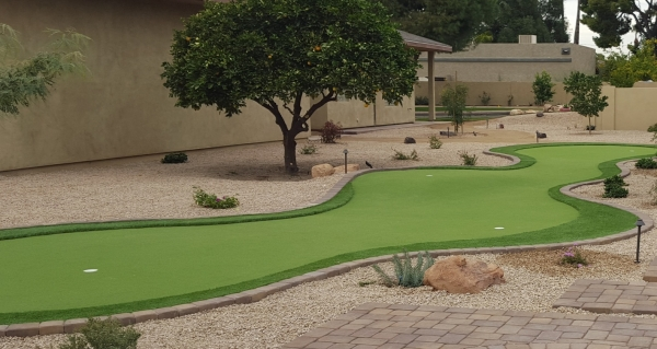 Brush up on your swing and strategy with Scottsdale-Phoenix putting greens in your backyard.