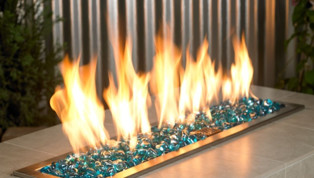 Blue Luster: Zircon Fire Glass