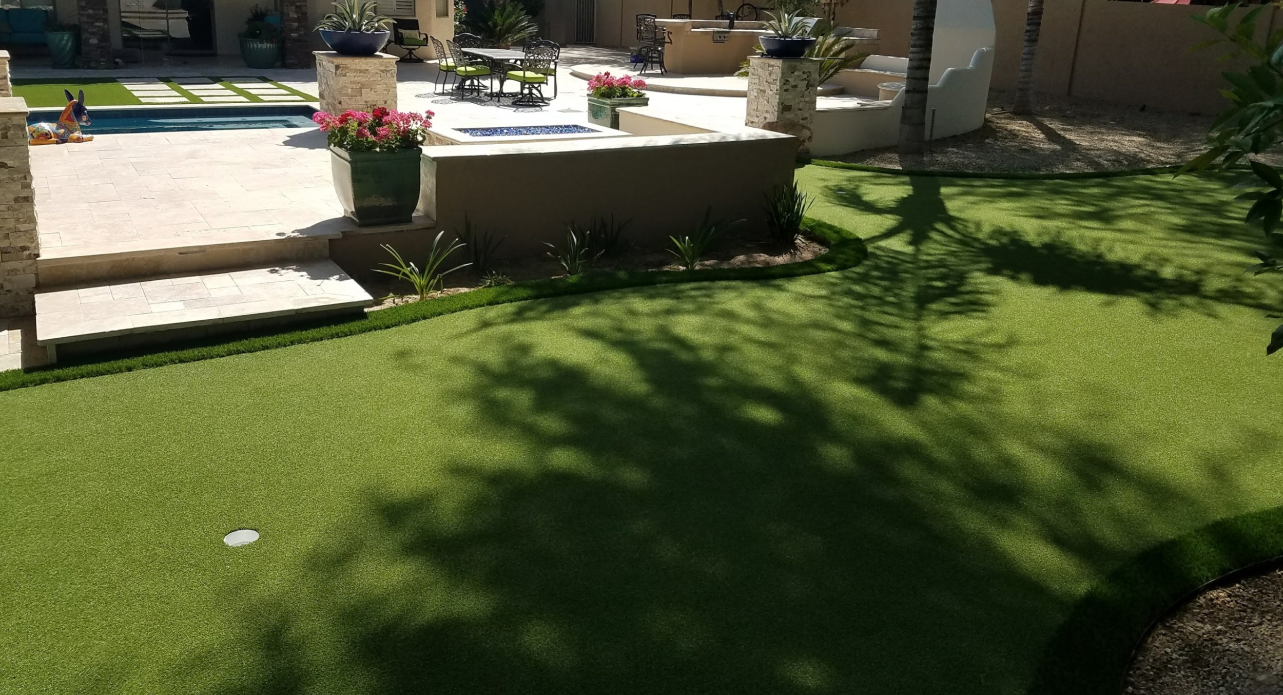 Having a shady corner free for Peoria, AZ home putting greens is certainly a huge stroke of luck. So much more pleasant building your game skills.