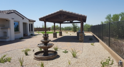 A timber ramada is perfect for your Valley patio. Not only do they originate here, but these shade structures, Cave Creek, are the only ones that actually cool the area beneath them.
