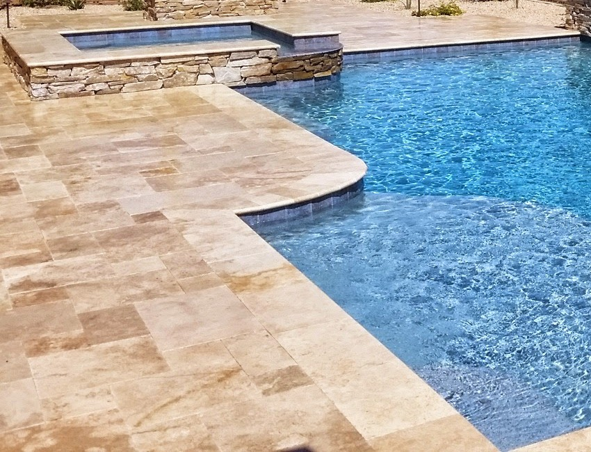 Scottsdale - Phoenix Pool Decks: stone and concrete pavers, flagstone paving, all the popular add-on features