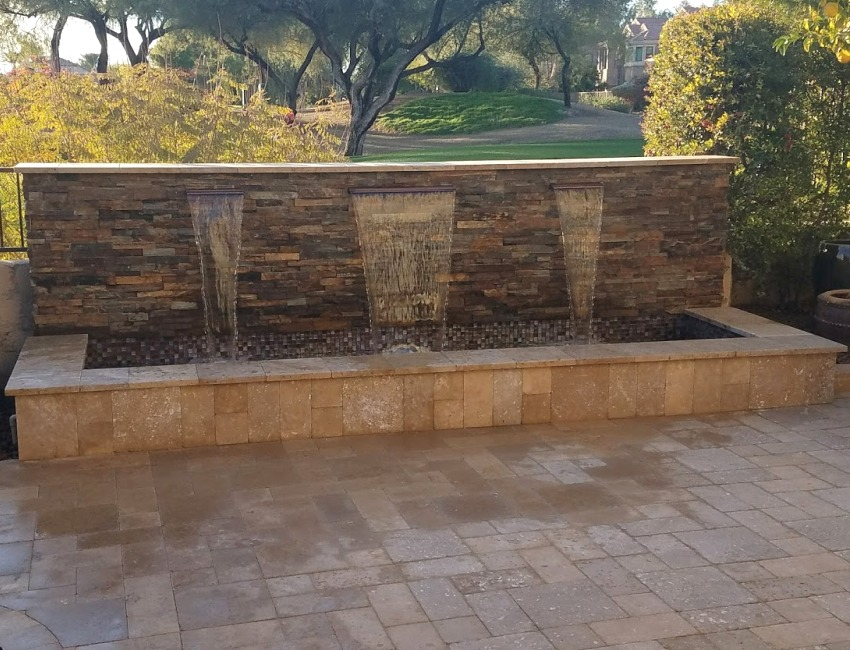 Scottsdale - Phoenix Outdoor Fountains & Water Features: pool fountains, waterfall ponds, waterwalls, and more