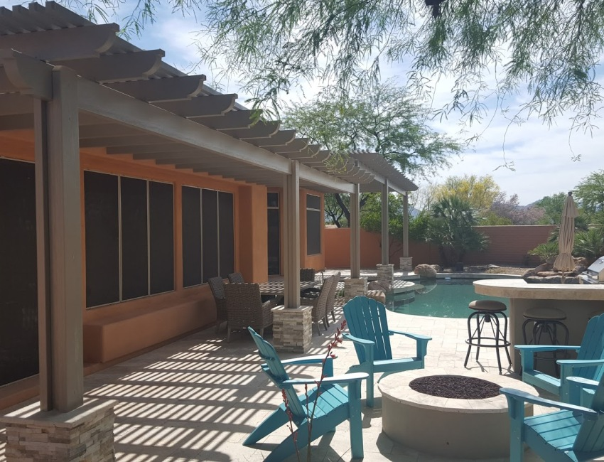 Phoenix - Scottsdale Patio Design: stone and concrete pavers, flagstone, or tile