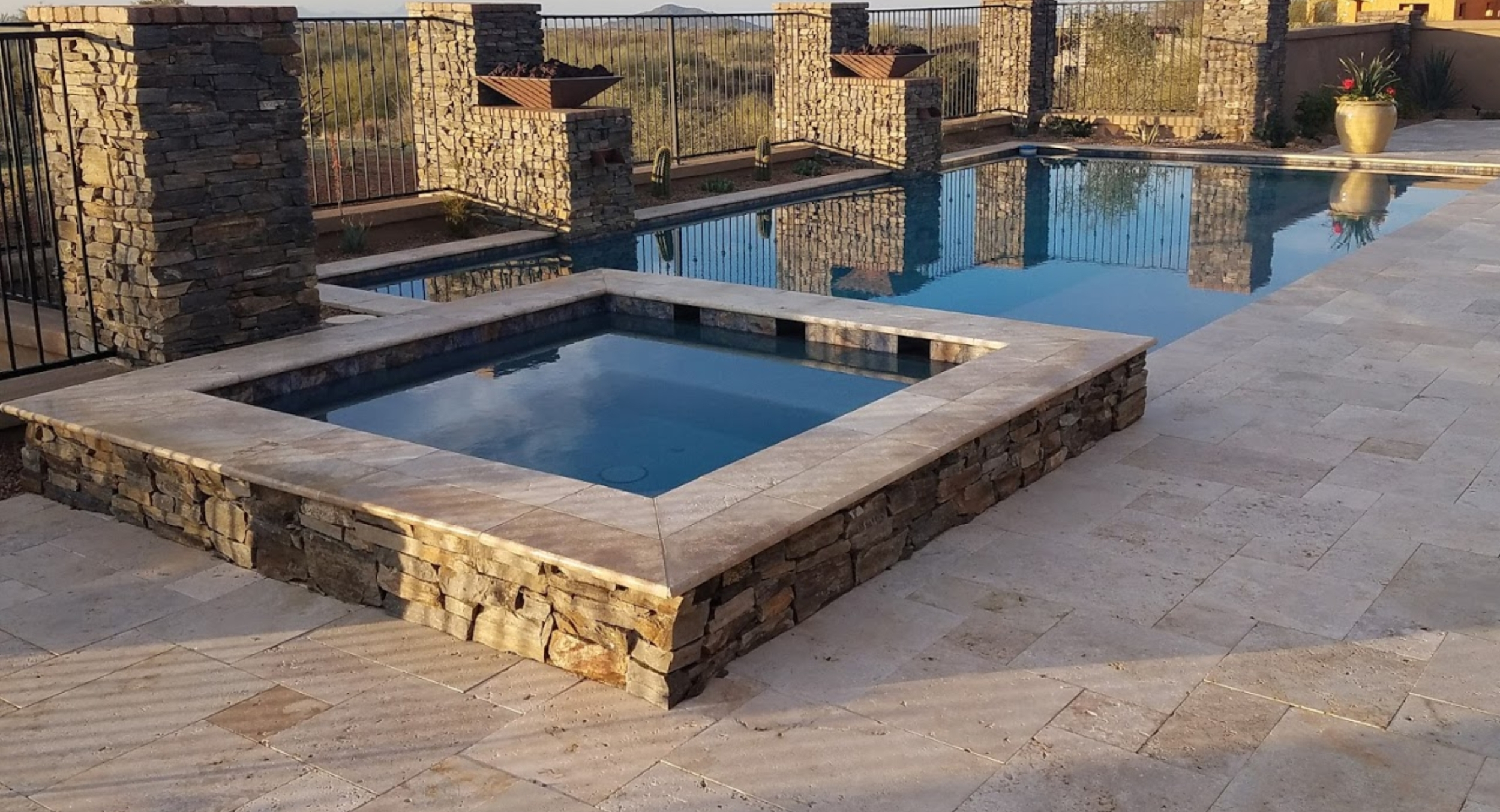 Looking for a complete pool and landscaping package?Desert Crest designs and builds any size Scottsdale swimming pools and Phoenix swimming pools.