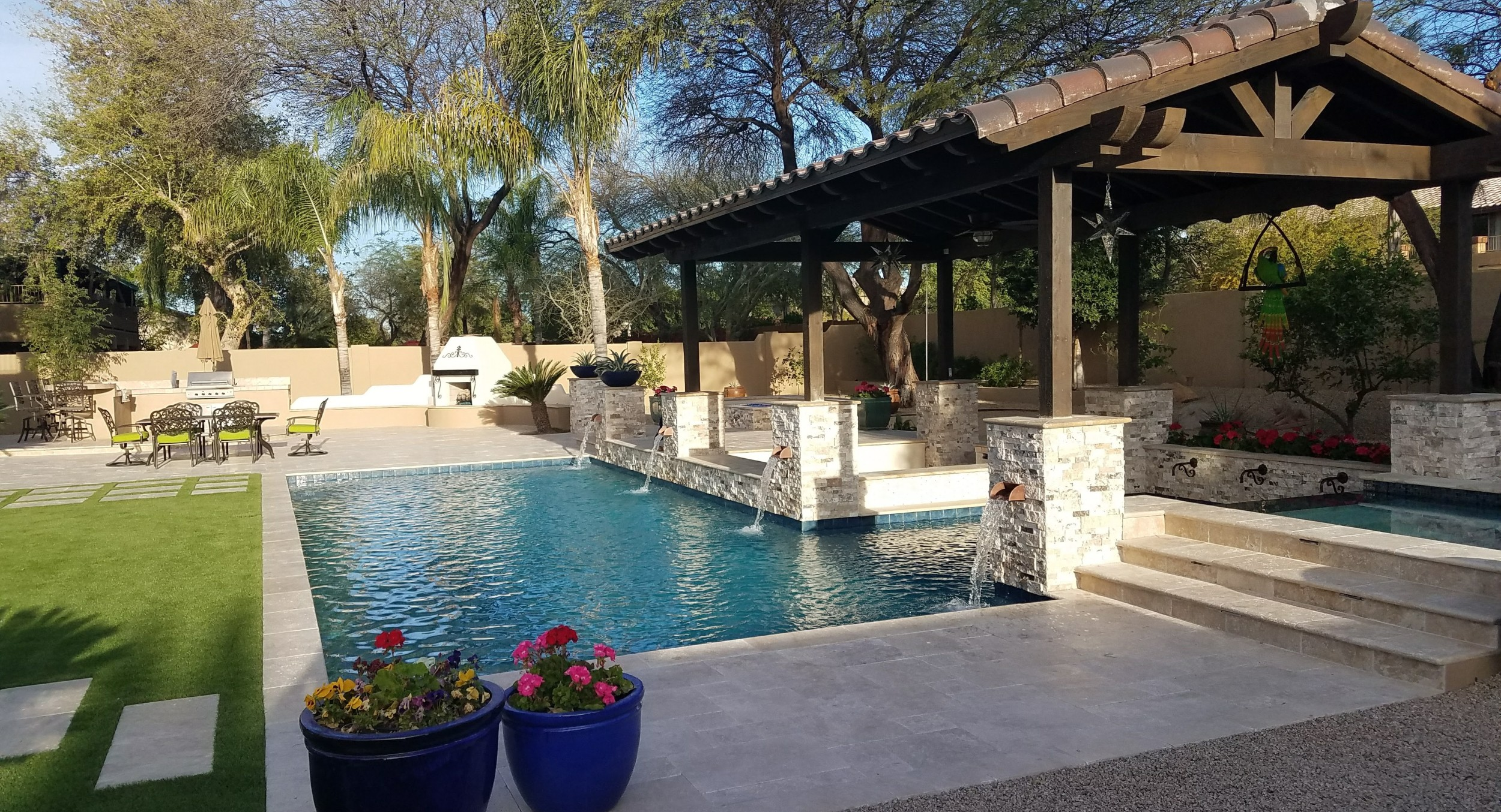 Welcome Home: Scottsdale - Phoenix landscaping by Desert Crest LLC includes everything under the sun. Pools, outdoor living spaces, and more.