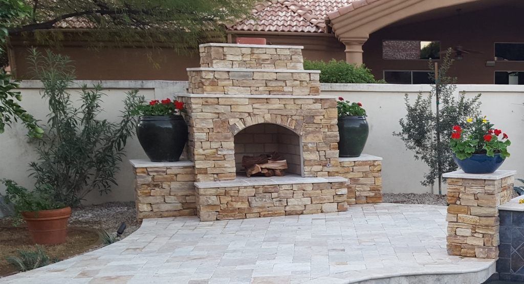 Flagstone Patio With Fire Pit Outdoor Spaces
