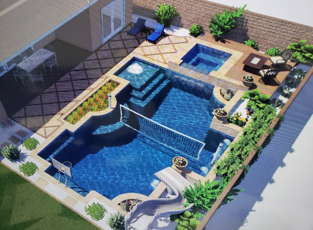 Working with Desert Crest for total backyard design and pool installation, Phoenix - Scottsdale homeowners will know exactly how everything will look. No more trying to imagine it. We offer 3-D design and video tours of your future yard.